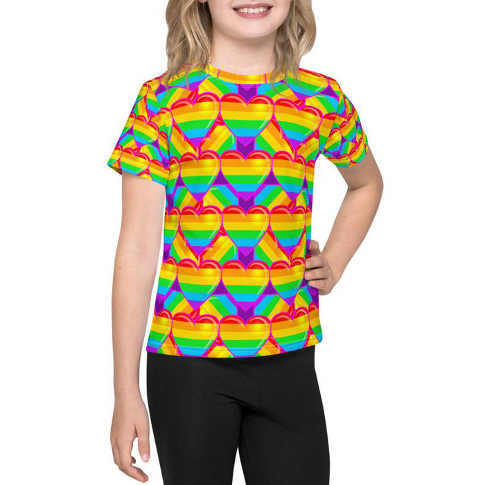Graphic Tee - Lil Kid - Rainbow Hearts