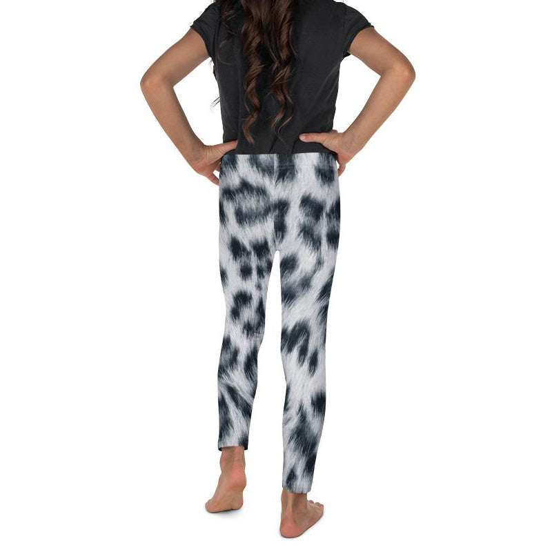 Graphic Leggings - Lil Kid - Snow Leopard
