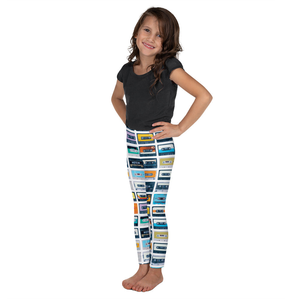 Graphic Leggings - Lil Kid - Cassette Tapes