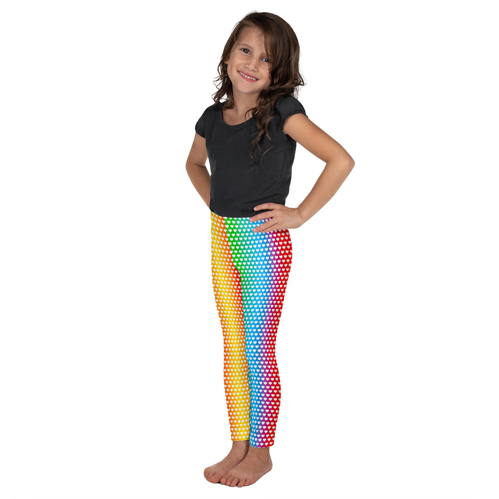 Graphic Leggings - Lil Kid - Cascading Hearts