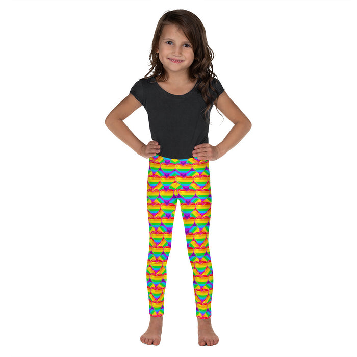 Graphic Leggings - Lil Kid - Rainbow Hearts