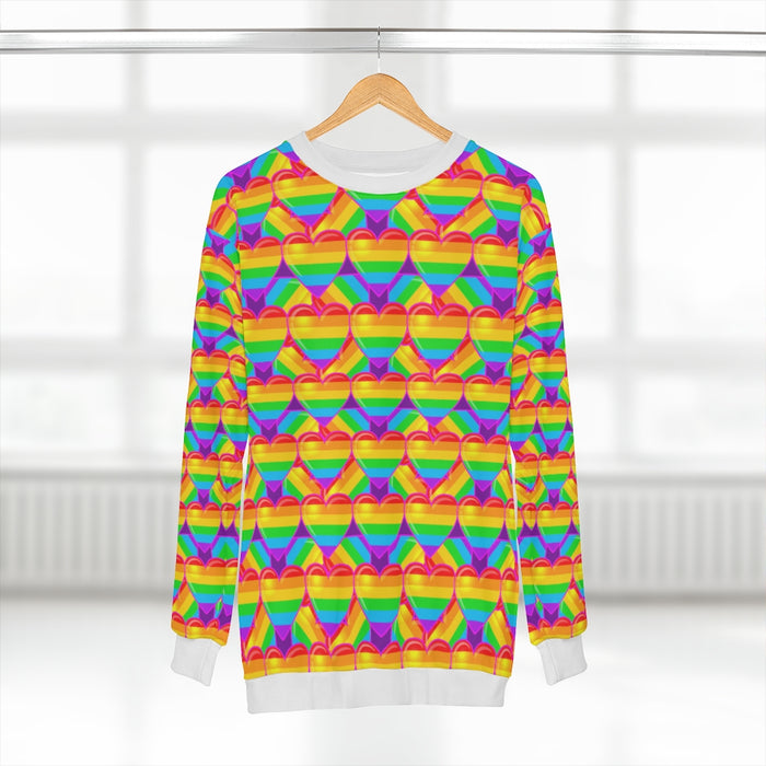 Adult Sweatshirt - Rainbow Hearts