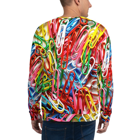 Adult Sweatshirt - Paperclips