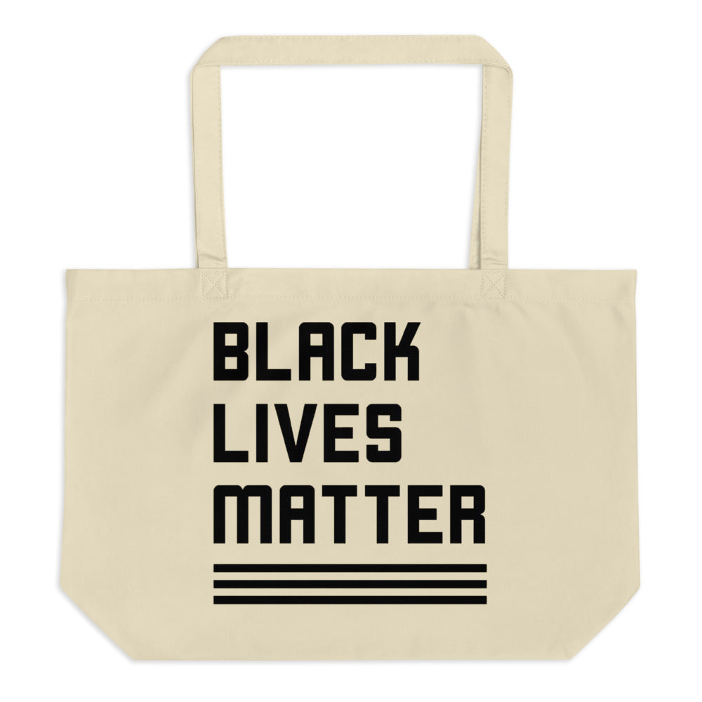 Large Eco Tote - Black Lives Matter (oyster)