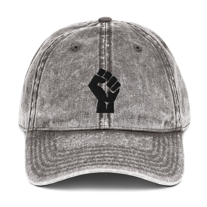 Vintage Wash Cap - Solidarity Fist (more colours)