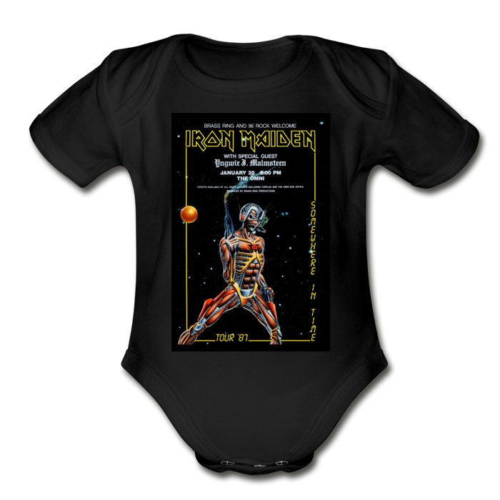 Bodysuit - Short Sleeve - Iron Maiden (4 colour options) - black