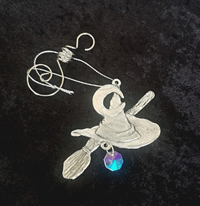 Witch Hat and Moon Window Charm