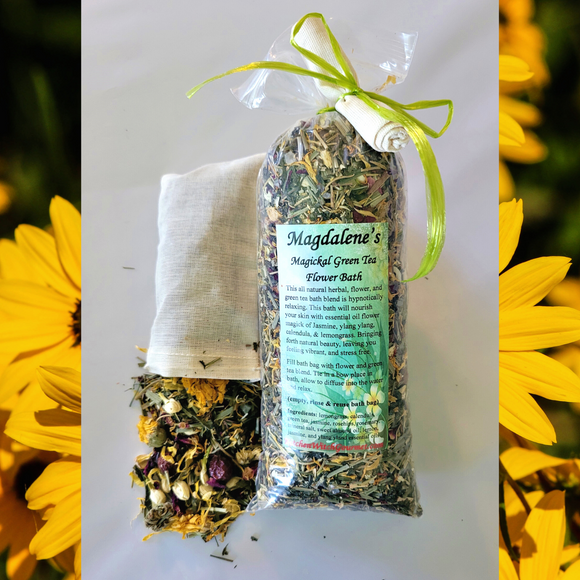 Magdalene's Magickal Green Tea Flower Bath Gift Box