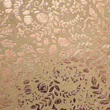 "Load image into Gallery viewer, Craft Perfect - Foiled Kraft Card - Rose Gold Blossom - 8.5""x11"" (5/PK) - 9350E"
