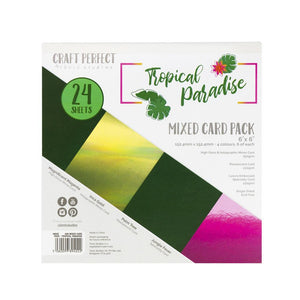"Craft Perfect - 6""x6"" Card Packs - Tropical Paradise - 9402e"