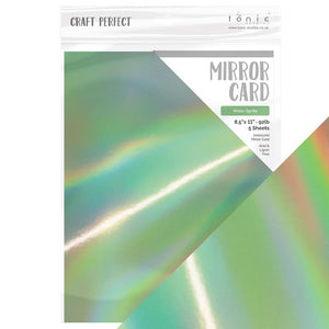 "Craft Perfect - Iridescent Mirror Card 8.5""x11"" - Water Sprite - (5/PK) - 9791e"