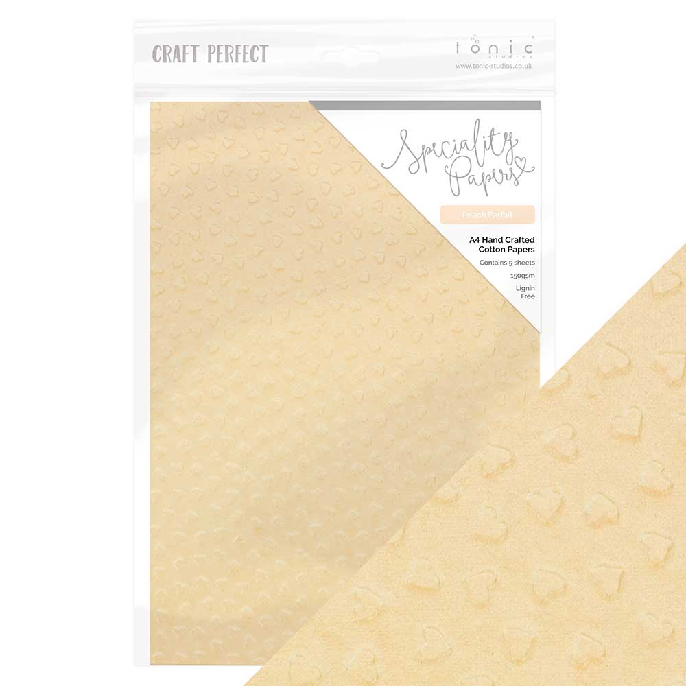Craft Perfect - Speciality Paper - Hand Crafted Cotton - Peach Parfait - 8.5