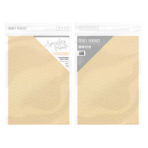 "Craft Perfect - Speciality Paper - Hand Crafted Cotton - Peach Parfait - 8.5""x11"" (5/PK) - 150gsm - 9890E"