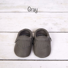 Load image into Gallery viewer, Genuine Leather Baby Moccasins