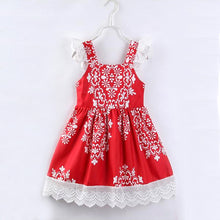 Load image into Gallery viewer, Red & White Detailed Edge Dress