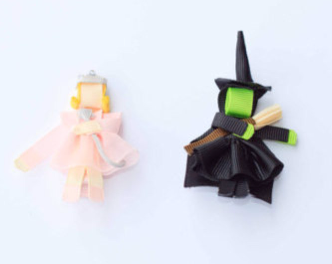Character Inspired Hair Clips - Wicked, Glinda, Elphaba Inspired Set