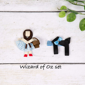 Character Inspired Hair Clips - Dorothy and Toto, Wizard of Oz Inspired Set