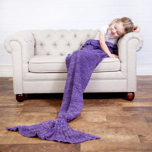 Two Tone Knit Mermaid Blanket