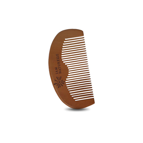 Peach Wood Beard Comb - I Am Naturelle