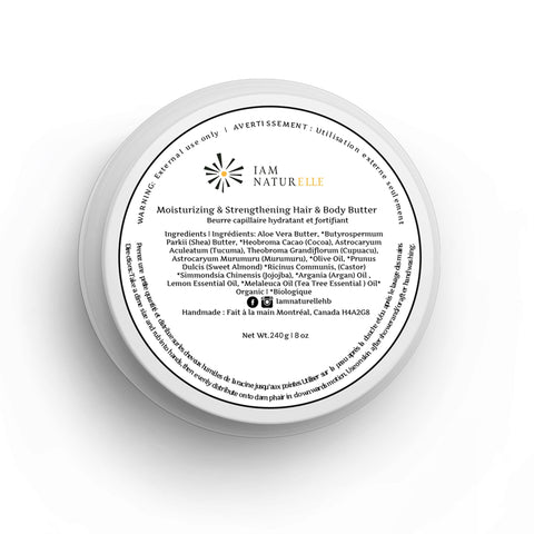 Moisturizing & Strengthening Hair & Body Butter - I Am Naturelle