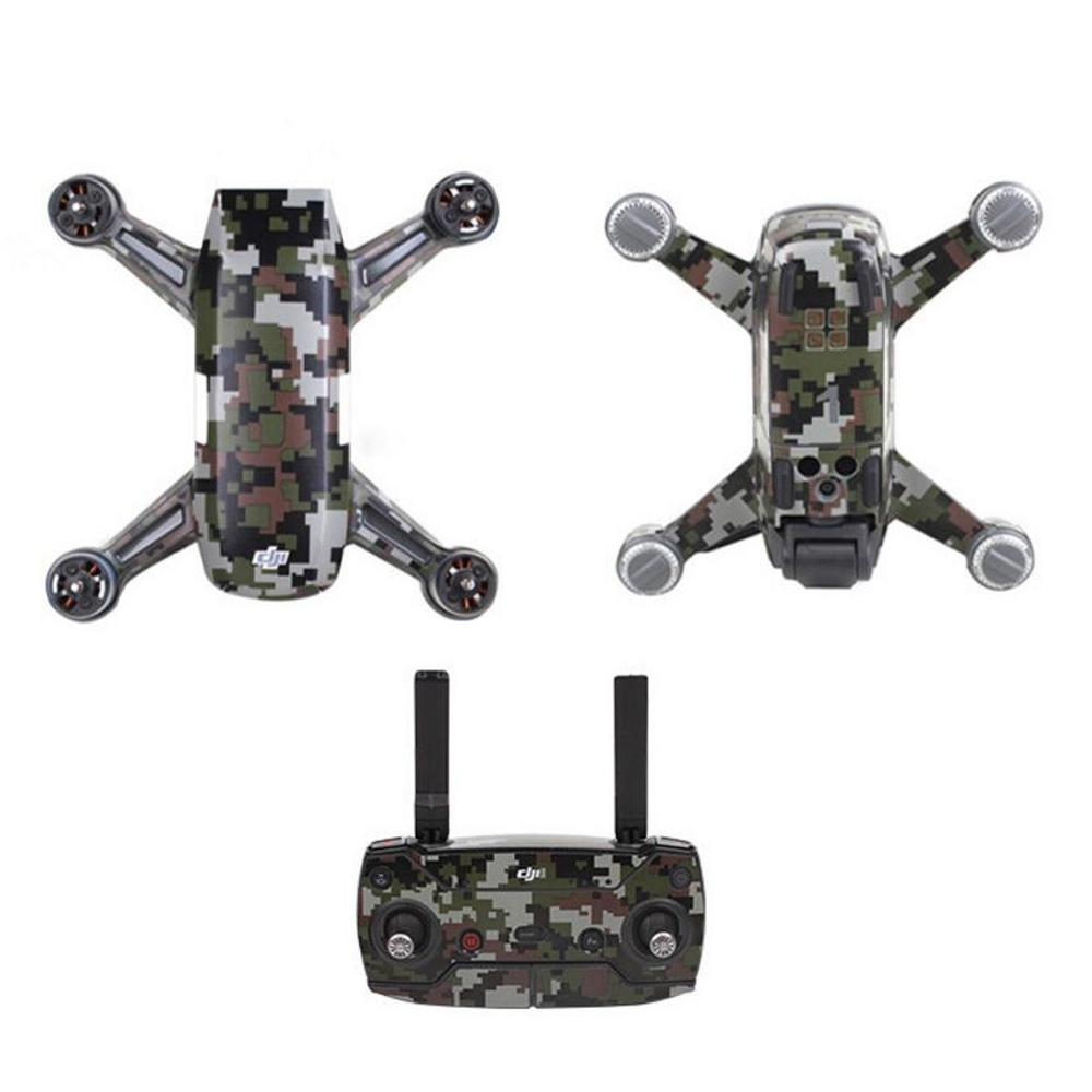 Carbon Graphic Stickers Camouflage Decals for DJI Spark Drone