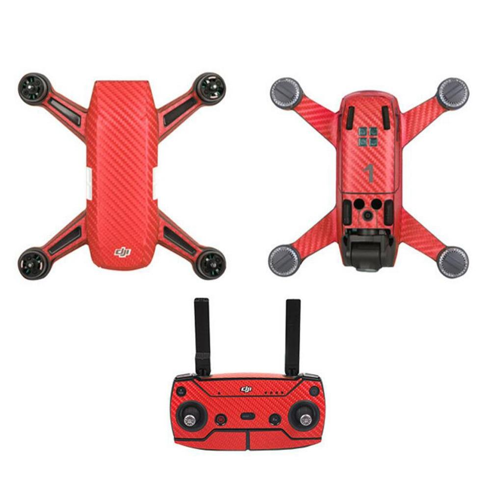 Lava Red Carbon Fiber Skin Wrap Waterproof Stickers For DJI SPARK