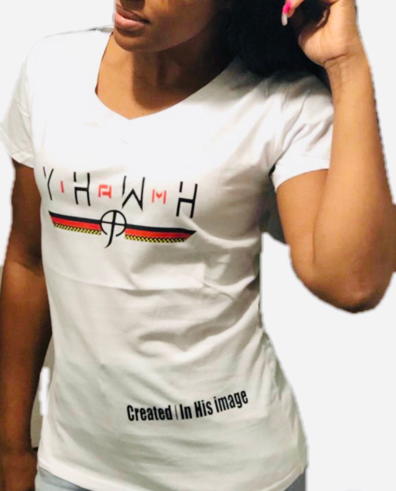 Load image into Gallery viewer, CCF YAHWEH White T-Shirt