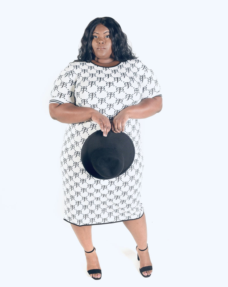 Load image into Gallery viewer, CCF Curvy Signature Purity Jersey Dress