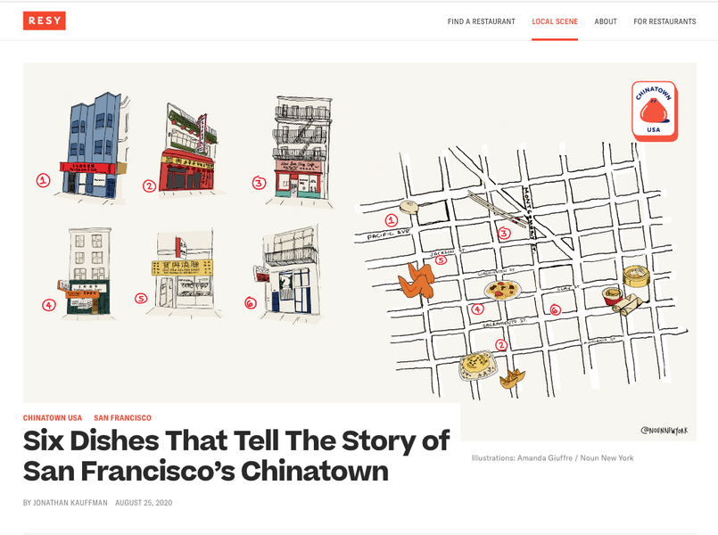 Six Dishes That Tell The Story of San Francisco's Chinatown - Illustrated by Noun New York