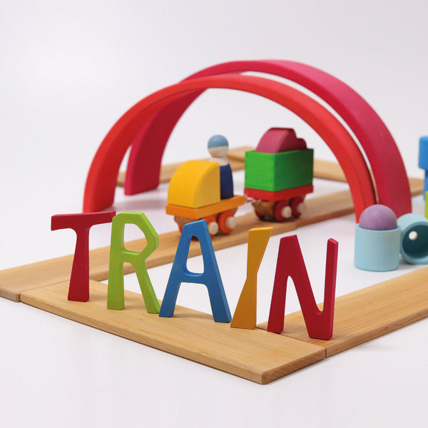 Grimm's Building Set Wooden Train Malaysia - Bueno Blocks