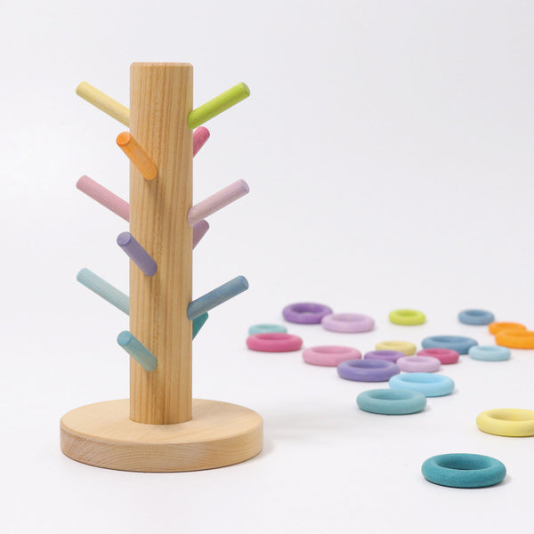 Grimm's Sorting Helper Building Rings Pastel Malaysia - Bueno Blocks