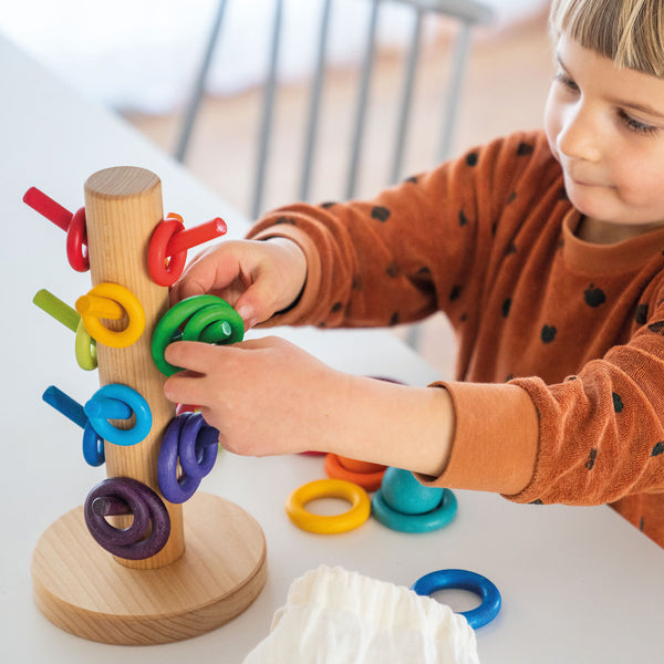 Grimm's Sorting Helper Building Rings Rainbow Malaysia - Bueno Blocks