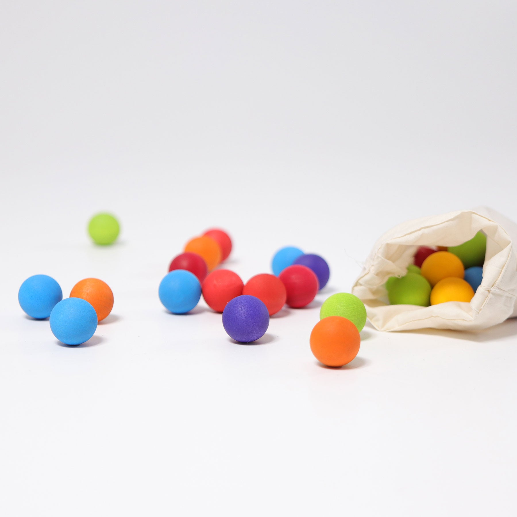 Grimm's Wooden Marbles - Bueno Blocks