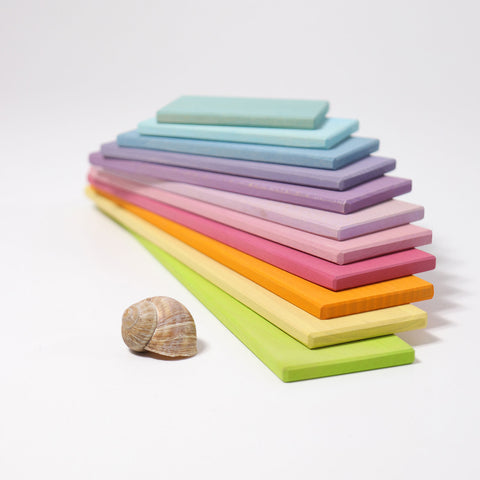 Grimm's Pastel Building Boards - Bueno Blocks