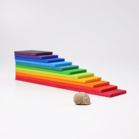 Grimm's Rainbow Building Boards - Bueno Blocks