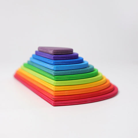 Grimm's Rainbow Semi Circles - Bueno Blocks