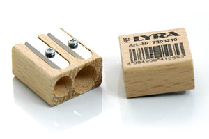 Lyra Natural Wooden Sharpener Malaysia - Bueno Blocks
