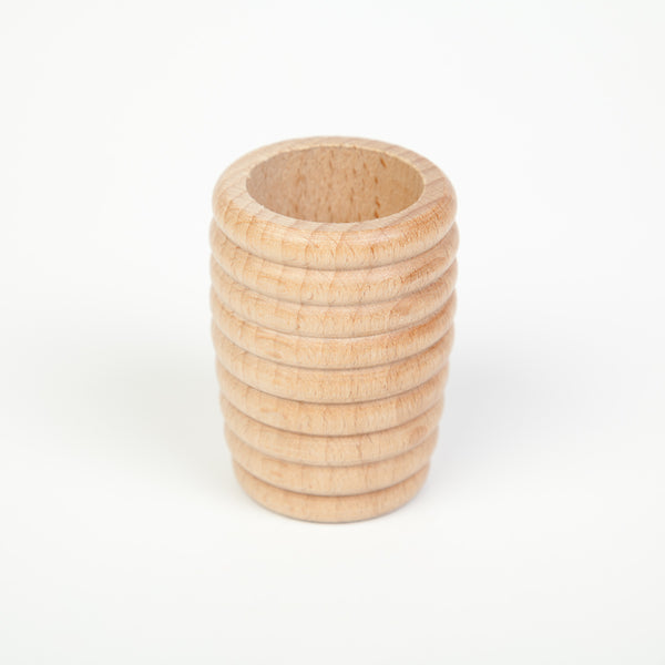 Grapat 6 Honeycomb Beaker Natural Wood