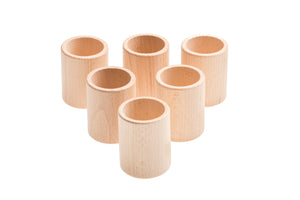 Grapat 6 Cups Natural Wood