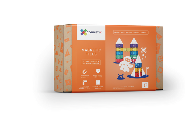 Connetix Tiles 40 Pieces Square Set - Expansion Pack