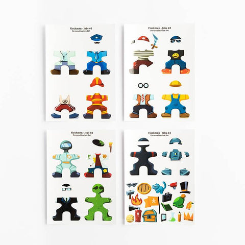 Flockmen Personalisation Sticker Set - Bueno Blocks