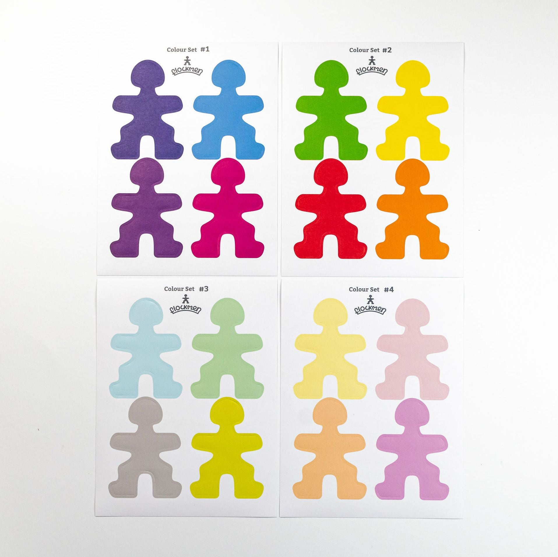 Flockmen Colour Sticker Set Malaysia - Bueno Blocks
