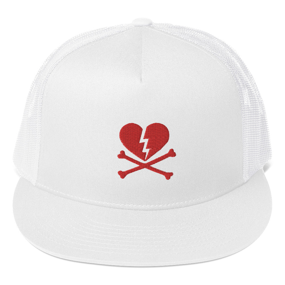BONE HARD NO LOVE HEART Trucker Cap