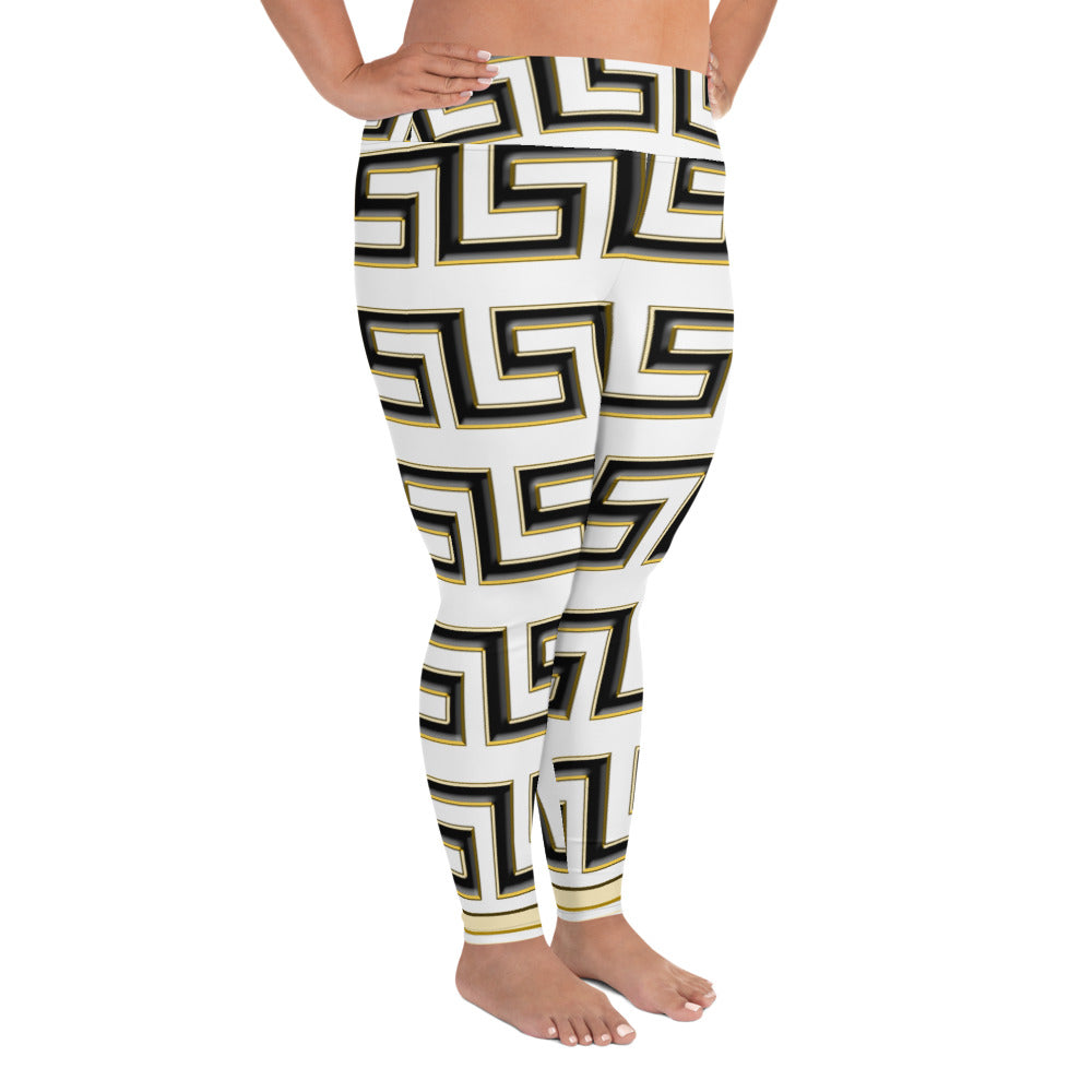 Boss Queen  Print Plus Size Leggings