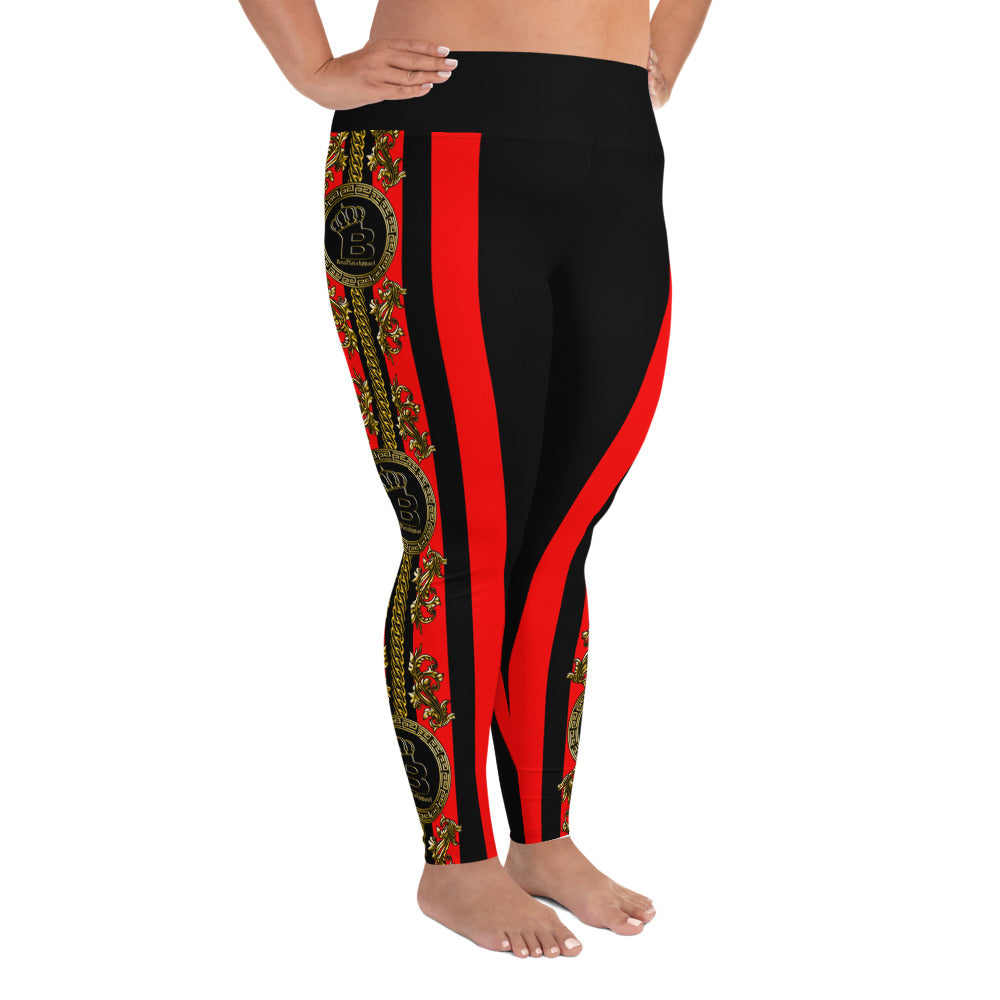 Empress Black/Red Boss Playa Plus Size Leggings