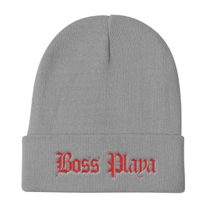 BOSS PLAYA RED LETTERS Knit Beanie