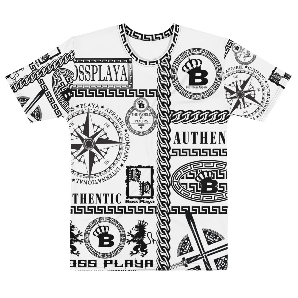 BP SYMBOLS (WHT) Men's T-shirt