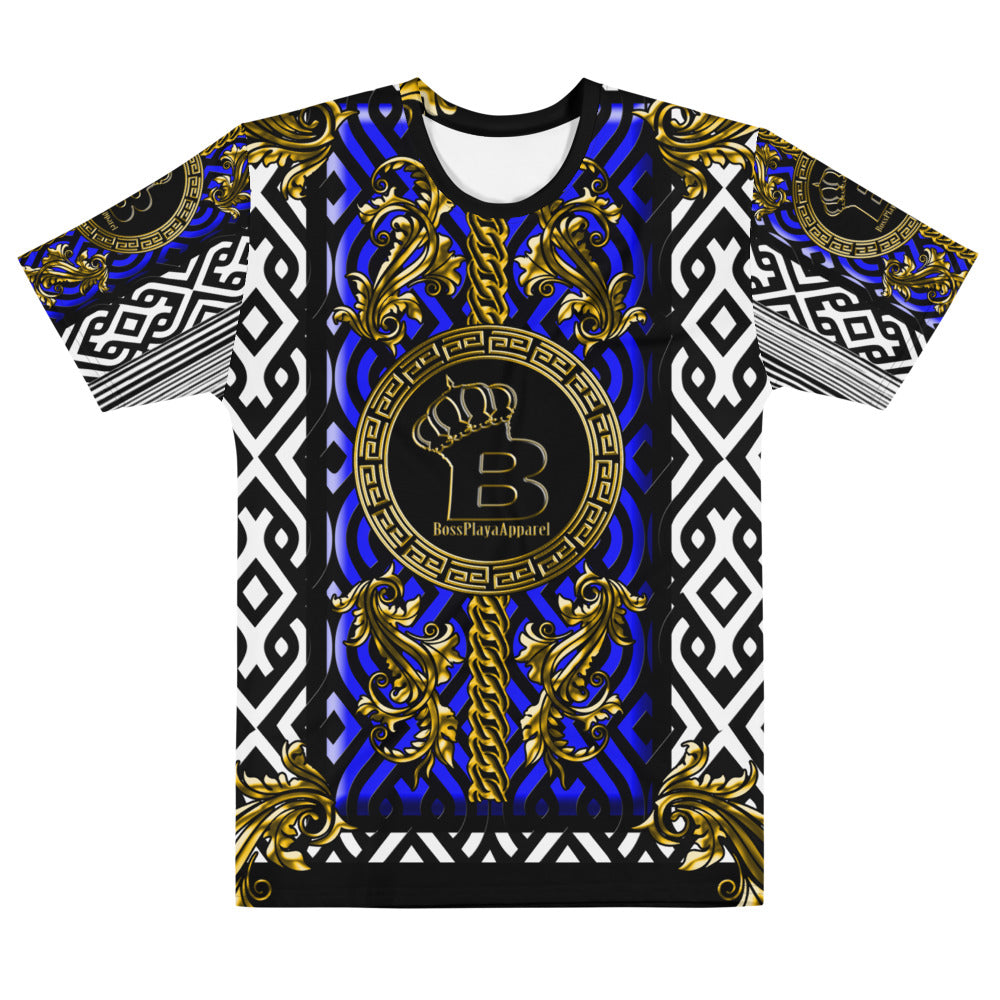 Blue Royal Crown Men's T-shirt