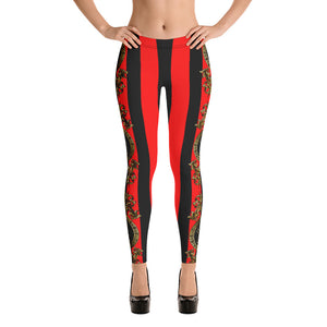 Empress  Black/Red Boss Playa Female leggings