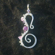 Load image into Gallery viewer, Sterling Silver Seahorse - Amethyst